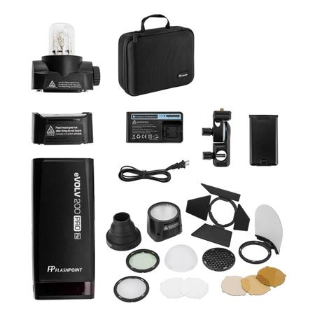 200Ws TTL HSS 1//8000s 2.4G Speedlite Studio Monolight /& Lithium Battery with Godox H200R Ring Flash Head and Godox AK-R1 Round Head Accessories Kit Godox AD200Pro Godox AD200 PRO Pocket Strobe Flash