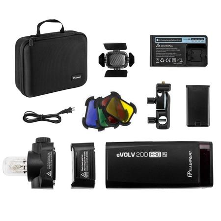 Godox AD200 TTL Pocket Flash Flashpoint eVOLV 200 TTL Pocket Flash with R2 ProC Trigger Kit for Canon Cameras