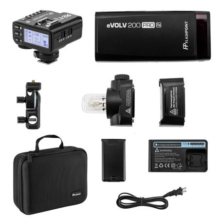 Flashpoint eVOLV 200 TTL Pocket Flash with R2 Prof Trigger Kit for Fujifilm Cameras Godox AD200 TTL Pocket Flash