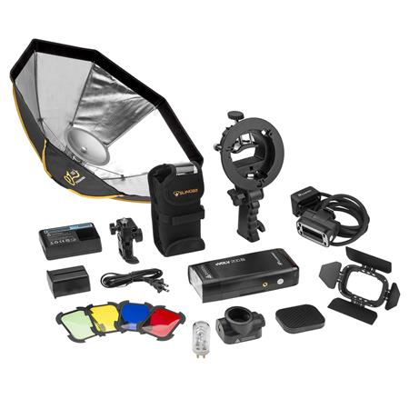 Flashpoint eVOLV 200 R2 TTL Pocket Flash with Barndoor Kit