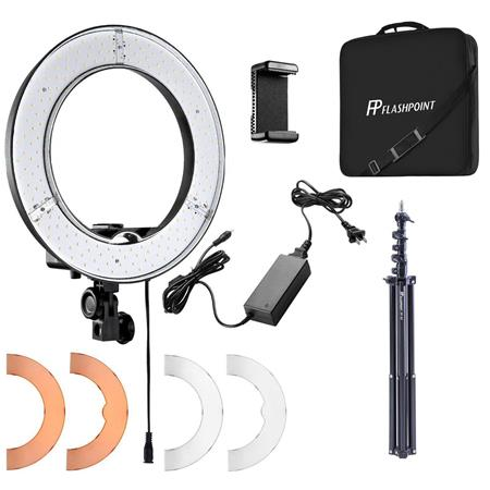 Flashpoint Ring Light Kit 13 42w 5500k Dimmable Led Ring Light