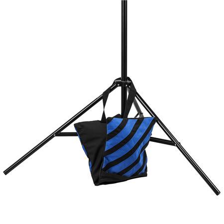 Water-Resistant Cordura Nylon Flashpoint Empty Saddle Sandbag 27 lb Capacity, Blue /& Black Stripes