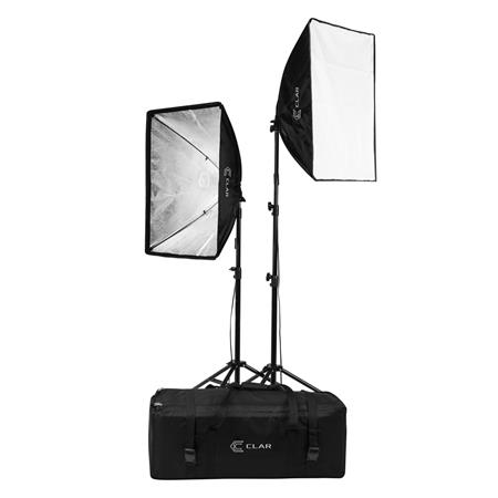Softbox Light Bulbs: Flashpoint 2-Light SoftBox Kit, Stands and Carrying Case,Lighting