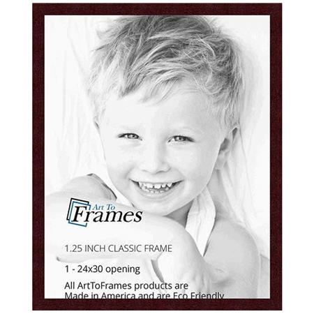 Art To Frames 3978 Wood Frame For 24x30 Photograph Mahogany