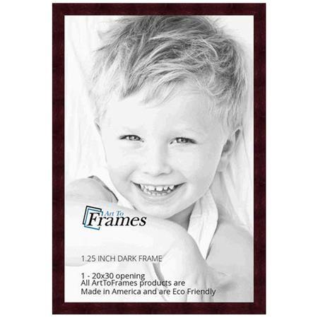 Art To Frames 4089 Wood Frame for 20x30 Photo, Dark Cherry Stain on ...