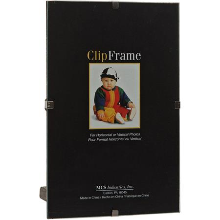 Mcs Glass Clip Picture Frame For 8x10 Photograph 55810