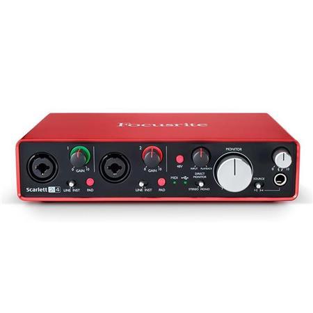 focusrite scarlett 2i4 2nd gen 2 input 4 output usb 2 0 audio interface scarlett2i42ndgen. Black Bedroom Furniture Sets. Home Design Ideas