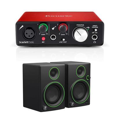 Focusrite Scarlett Solo 2nd Gen 2 Input/ 2 Output Audio Interface Mackie  CR3 3