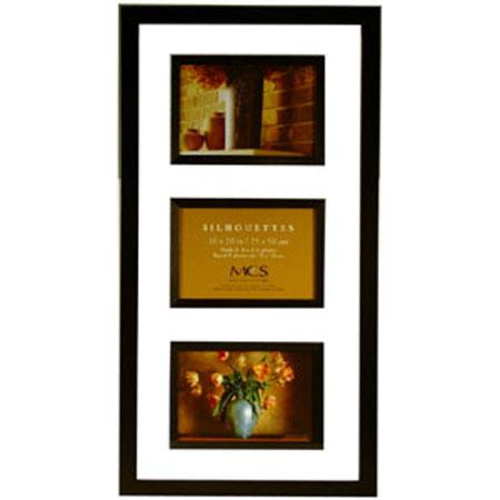 mcs tt wall silhouettes 10x20 wood frame with three 4x6 openings black