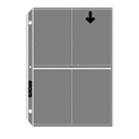 archivalware polypropylene photo album pages holds 8 prints 4x5