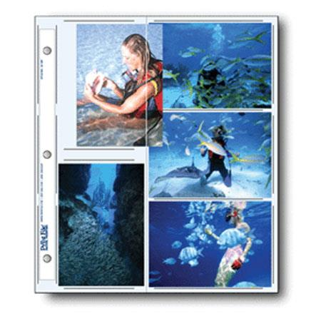 Print File Archival Photo Pages Holds Two 8.5x11 Prints Pack of 25