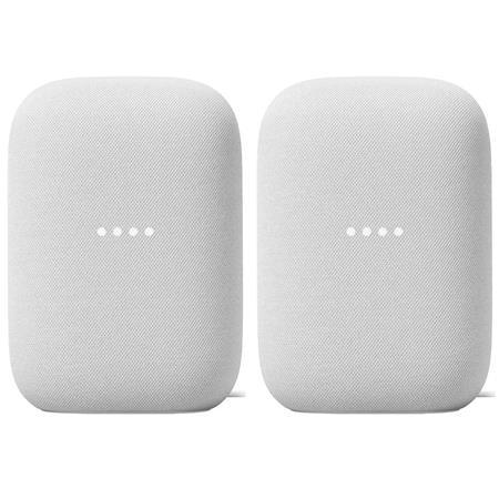 2-Pack Google Nest Audio Smart Speaker (Chalk)