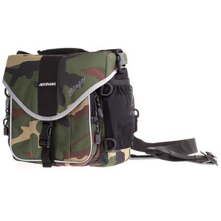 7f84b56b64188e Adorama Slinger Bag, Single Strap, Camouflage SLCA - Adorama