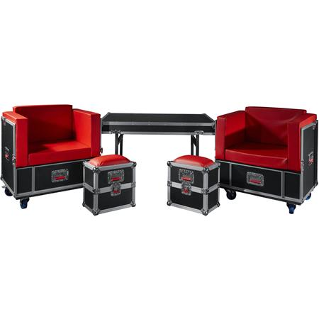 Strange Gator Cases G Tour Road Case Furniture Set Includes 2X Chairs 2X Ottomans And Table Shipping Case Gmtry Best Dining Table And Chair Ideas Images Gmtryco