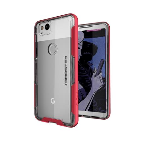 sports shoes c7b4e 7f9d7 Ghostek Cloak 3 Series Clear Protective Case for Google Pixel 2 Smartphone,  Red