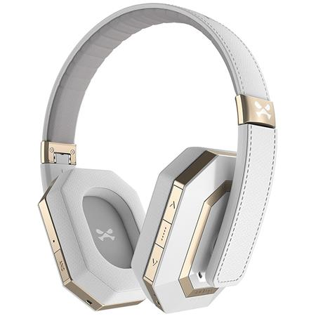 Ghostek soDrop Pro Bluetooth Wireless Over-Ear Headphones with Microphone,  White/Gold