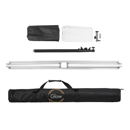Glow Reflector Panel and Sun Scrim Kit with Boom Handle and Carry Bag 43.3 x 43.3