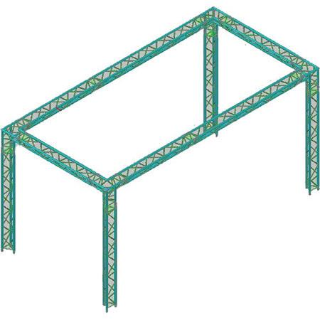Global Truss 10x20' Triangular Booth: Picture 1 regular