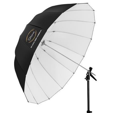 Glow Easy Lock Large Deep White Fiberglass Umbrella (51