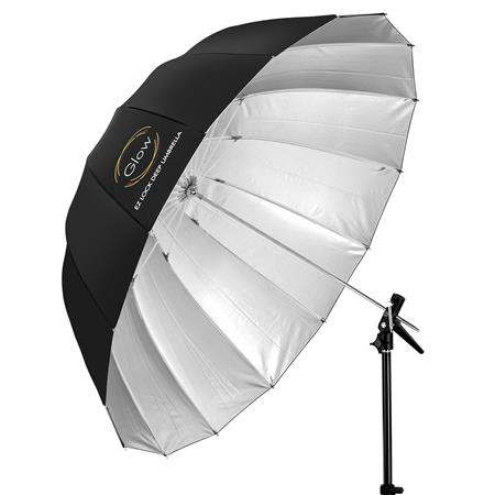 ebd8f9a3e020 Glow Easy Lock X-Large Deep Silver Fiberglass Umbrella (65