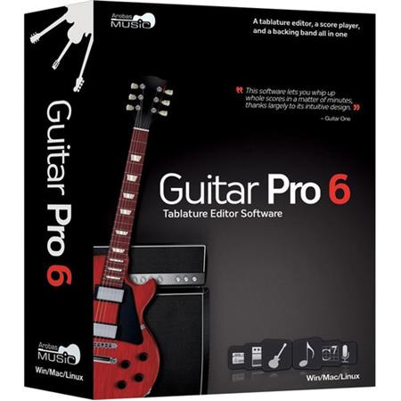 Guitar Pro Arobas Guitar Pro 6 XL Tablature and Scoring Software Plus 6  Soundbanks Software, XL Edition, Electronic Delivery