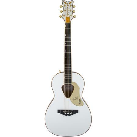 Gretsch Acoustic Guitars >> Gretsch G5021wpe Rancher Penguin Parlor Semi Acoustic Guitar 20 Frets Standard U Neck Rosewood Fingerboard White