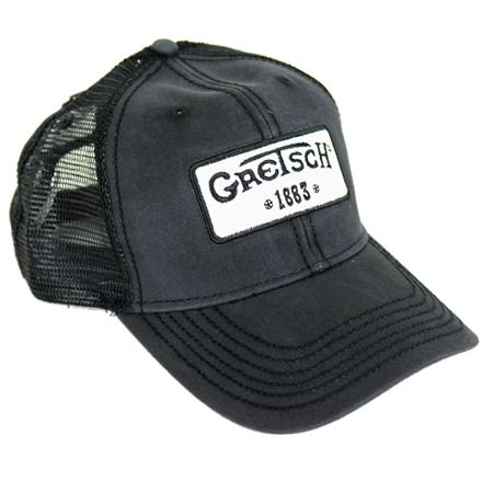 Gretsch Limited Mesh Back Vintage Trucker Hat with 1883 Logo Patch ... 9c6406103f5