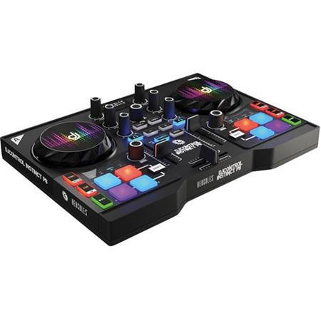 Hercules DJControl Instinct P8 Party Pack, Includes Dual-Deck MIDI  Controller Plus Mixer with Built-In Sound Card and 8x LED Wristband Lights