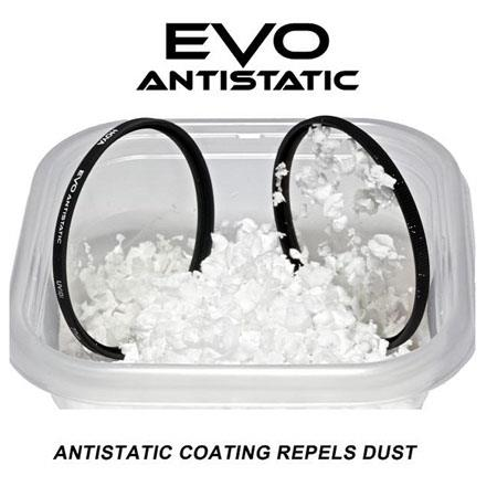 Hoya Evo Antistatic UV Filter 49mm Dust // Stain // Water Repellent Low-Profile Filter Frame