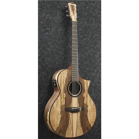 Ibanez Exotic Wood Aew16ltd1 Acoustic Electric Guitar With Spalted Maple Walnut Multi Wood Mosaic Top Back And Sides 20 Frets Mahogany Neck