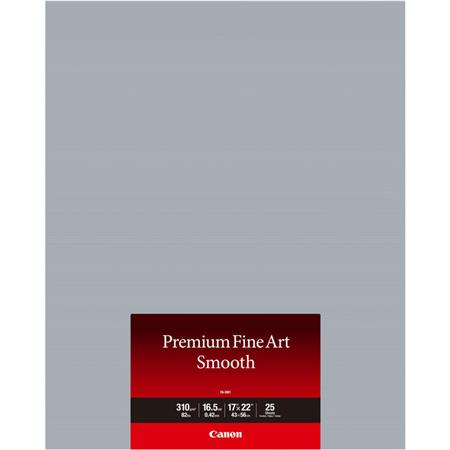 Canon Premium Smooth Matte Cotton Fine Art Paper 17x22 25 Sheets