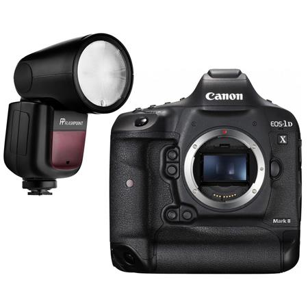 canon eos 1dx mark ii dslr body with flashpoint zoom lion