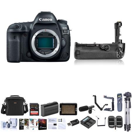 Canon EOS 5D Mark IV DSLR Body with Pro Accessory Bundle