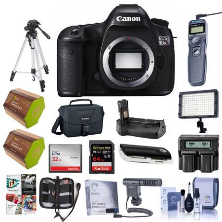 d2dd417f7279 Canon EOS 5DS R DSLR Camera Body - with Pro Accessory Bundle