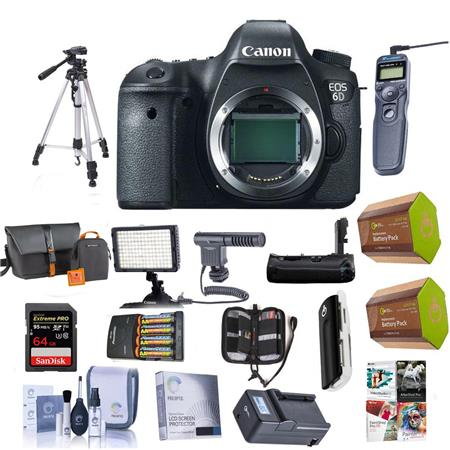 Canon Eos 6d Camera With Pro Accessory Bundle 8035b002 Kc