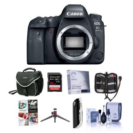Canon EOS 6D Mark II DSLR Body With Free Accessory Bundle