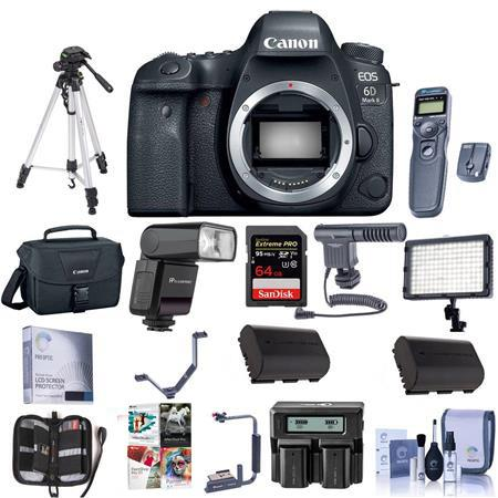 Canon EOS 6D Mark II DSLR Body With Pro Accessory Bundle