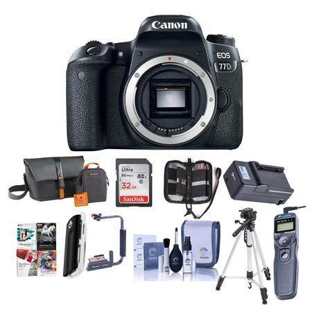 Canon EOS 77D DSLR Body - with Premium Accessory Bundle