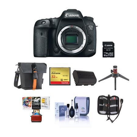 Canon EOS 7D Mark 2 DSLR Camera Body with WiFi Adapter Kit W/Free Mac Acc  Bundle