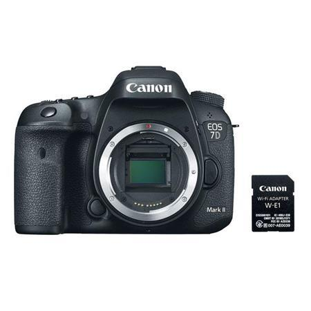 Canon EOS 7D Mark II 20.9MP DSLR Camera Body w/Adapter Kit