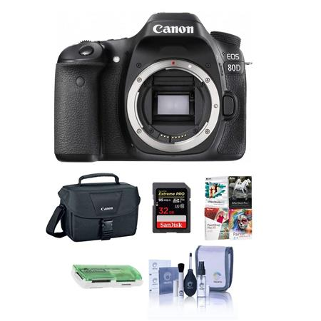 Canon EOS 80D DSLR Body and Free Accessories