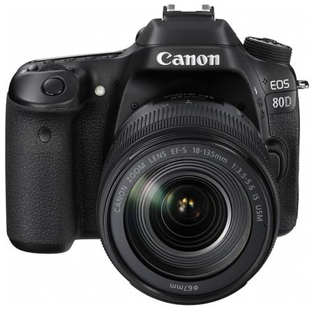 Canon EOS 80D DSLR with EF-S 18-135mm f/3 5-5 6 IS USM Lens