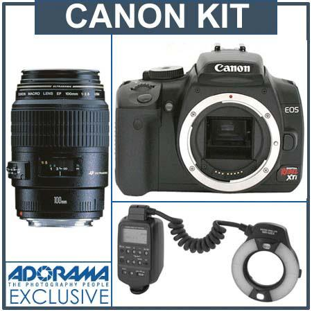 Canon Digital Rebel XTi Black Dental Camera Outfit with
