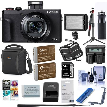Canon PowerShot G5 X Mark II 20 1MP Point and Shoot Camera Black W/Pro ACC  KIT