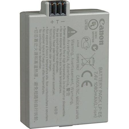 Canon Battery Pack LP-E5 for EOS Rebel XS, XSi and T1i digital camera 1080  mAh
