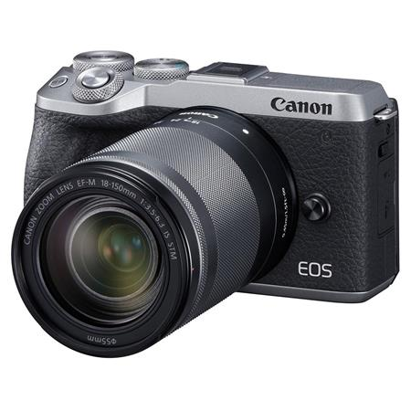Canon EOS M6 Mark II Mirrorless Digital Camera with EF-M 18-150mm IS STM  Lens & EVf-DC2 Viewfinder, Silver
