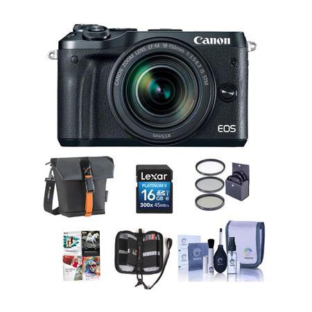 Canon EOS M6 Mirrorless Camera Black w/EFM 18-150mm IS STM Lns W/Free Acc  Bundle