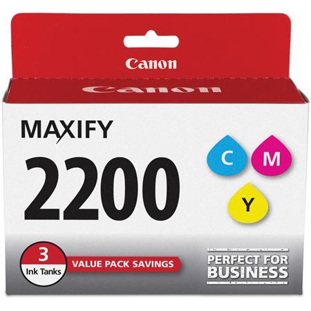 Canon Pgi 2200 Cyan Magenta Yellow Ink Cartridges 3 Pack 9304b005
