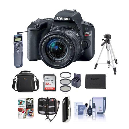 Canon EOS Rebel SL2 DSLR with 18-55mm STM Lens - Black - w/Premium  Accessory Kit