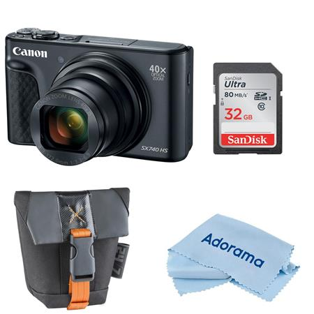 Canon Powershot Sx740 Hs Digital Camera Black With Free Accessory Bundle 2955c001 A